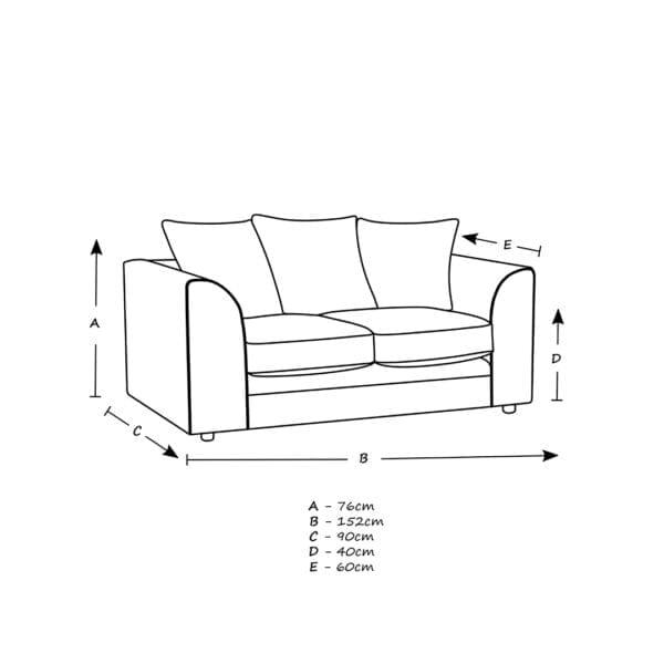Grantley 2 Seater Sofa Blue Print