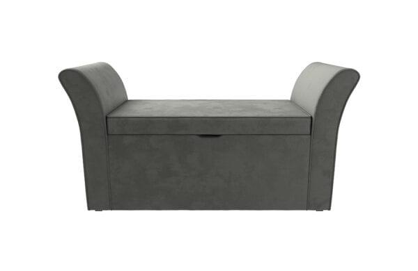 Josie Velvet Storage Ottoman grey